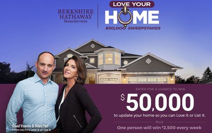 berkshire hathaway love your home $50,000 sweepstakes - sun sweeps