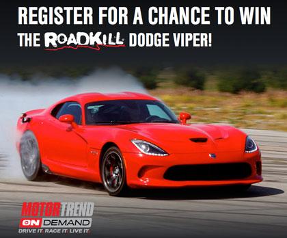 Motor Trend OnDemand Dodge Viper GT Giveaway Sweepstakes