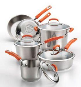 Rachael Ray Stainless II 10 piece cookware set