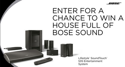 Bose's House Of Sound Sweepstakes