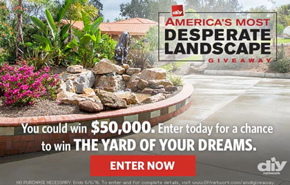 diy network america s most desperate landscape sweepstakes sun sweeps