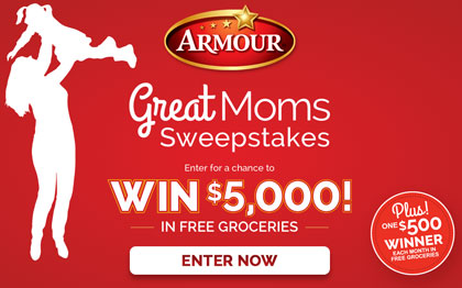 Armour Great Moms Sweepstakes