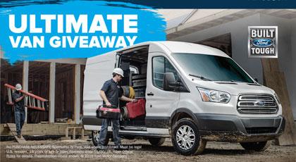 Ford Ultimate Van Giveaway Sweepstakes