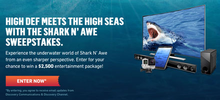 Discovery and Cox Shark N' Awe Sweepstakes