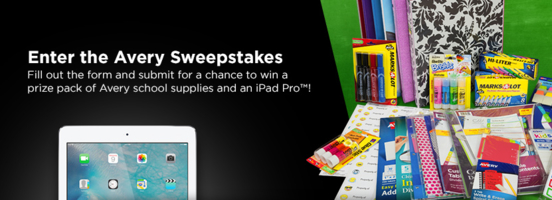 Avery Gives Back Sweepstakes