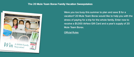 Dial Family Vacation Sweepstakes