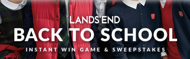 Lands End Back to School Sweepstakes