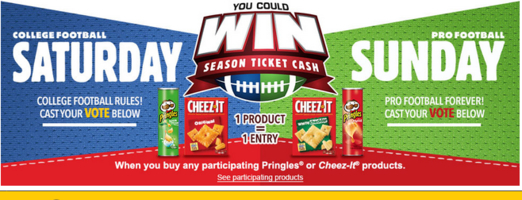 Kellogg's Family Rewards Saturday vs. Sunday Sweepstakes