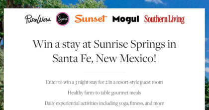 PureWow 2016 New Mexico Stay Giveaway
