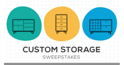 Room and Board Custom Storage Sweepstakes