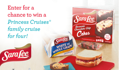Sara Lee Princess Cruises Sweepstakes
