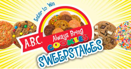 Great American Cookies Always Bring Cookies Sweepstakes