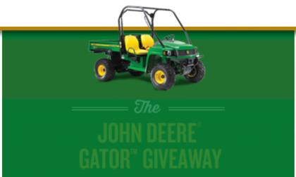 John Deere Gator Utility Vehicle Giveaway