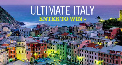 Saveur Ultimate Italy Insight Vacations Contest