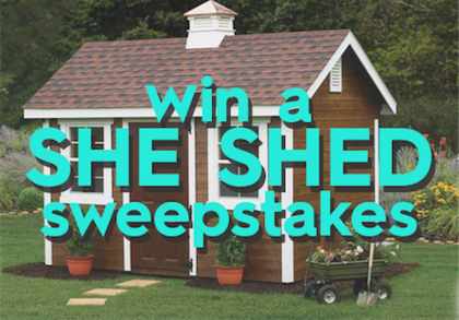 Better Homes And Gardens Diy She Shed Sweepstakes Sun Sweeps