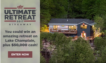 You are officially entered to win sun sweeps for Diy network ultimate retreat 2017
