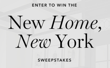Homepolish new home new york giveaway sun sweeps for New home giveaway