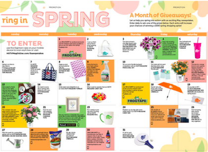 HGTV Magazine Ring in Spring Sweepstakes - Sun Sweeps