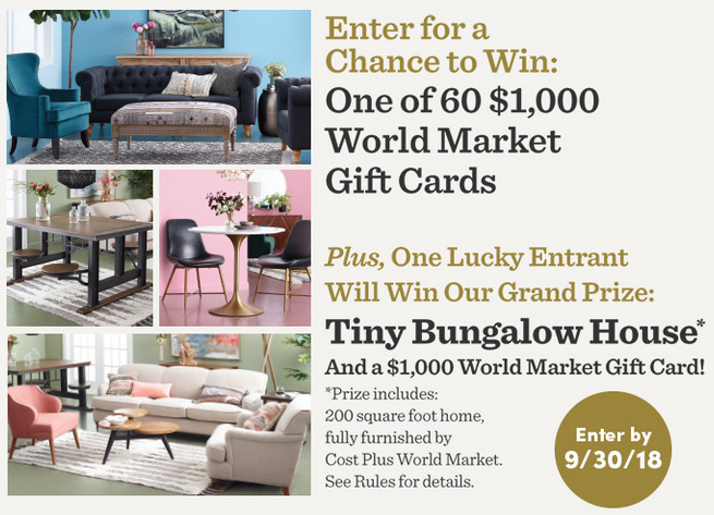 World Market 60 Makeovers in 60 Days Sweepstakes - Sun Sweeps