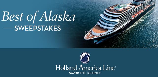 Holland America Best of Alaska 2018-2019 Sweepstakes - Sun